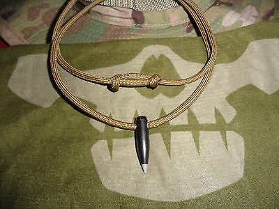 Sale!!! Black Hog tooth Scout Sniper 550 cord necklace... VET Made  USA