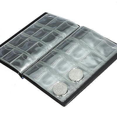 10 Pages World Coin Pocket Album Book Holder Collection Storage for Badges Caps