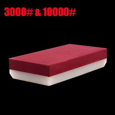 Durable 3000# &10000# Dual Grit Knife Sharpening Stone Whetstone Razor Polishing