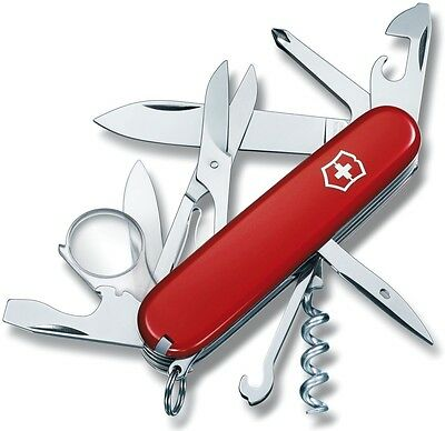 Victorinox Swiss Army Knife 91mm Red Explorer New in Box & Swiss Made