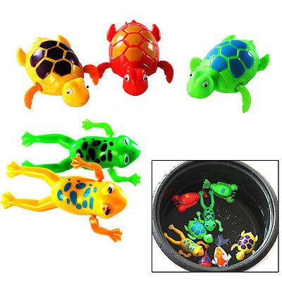 Cute Wind-Up Clockwork Toys Animals Frog Water Tub For Baby/Kids Gift
