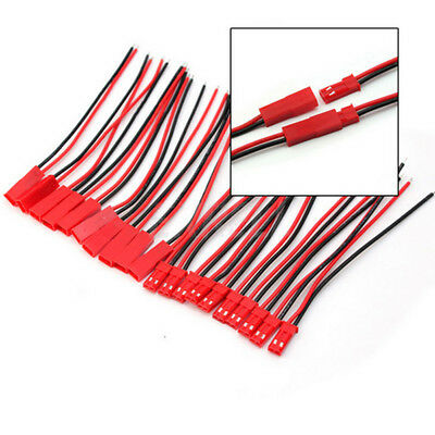 10pcs Battery Plug JST RC Model Socket Connector Cable Wire Male+Female LED Wire
