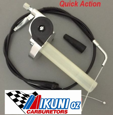Mikuni Carb VMX Throttle & Cable, Quick Action Mikuni Vm,TM 30-38mm carburetors