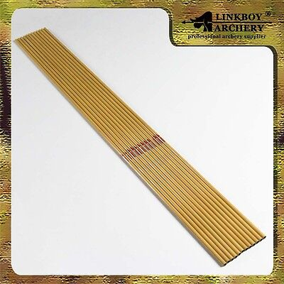 """12)Archery carbon arrows shafts 32"""" bamboo pattern traditional or brecurve bow"""