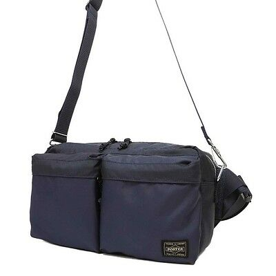 df146dcc21ab New Yoshida PORTER PORTER FORCE 2WAY WAIST BAG 855-07418 Navy (Blue) From