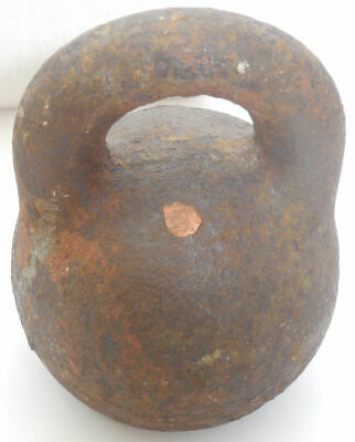 Antique Genuine Imperial Russian Cast Iron Scale Weight 10 Pounds 4 kg 145 gr