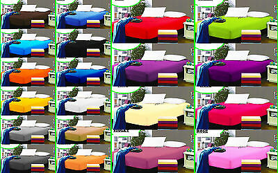 Solid Color Fitted Sheet Twin Full Queen King 100% Cotton 20 Colors Bed Sheet