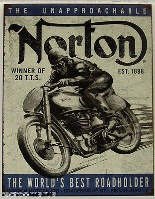 NORTON Motorcycle's metal sign Winner the unapproachable best roadholder  1706