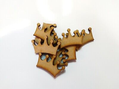 wooden craft CROWN shapes, laser cut 3mm mdf embellishments, decoupage,