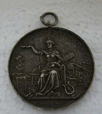 Medal Of The Society Of Science Letters And Art London With Dedication 1897