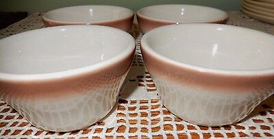 Buffalo Restaurant Ware Soup Cups~Brown Spray~1 Flawed~Fast Shipping!