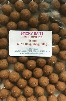 STICKY BAITS KRILL SHELF LIFE BOILIES TASTER PACKS in 16mm or 20mm