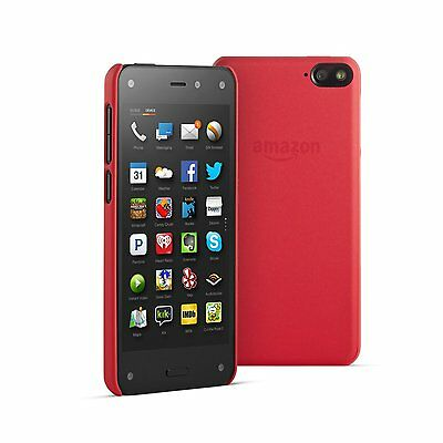 Genuine Official Amazon Fire Phone Cayenne Red Leather Hard Shell Case by Amazon