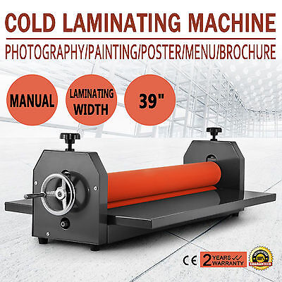 "39"" Cold Wide Large Format Printer Roll Laminator 4 Roller Laminationg Machine"