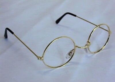 Round Granny Glasses Old Lady Pensioner Santa No Lens Fancy Dress Costume Specs