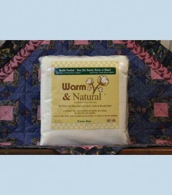 Warm And Natural Needled Cotton Batting/Wadding Twin 72in x 90in