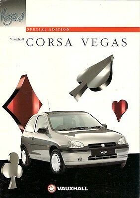 Vauxhall Corsa Vegas Limited Edition 1996 UK Market Sales Brochure