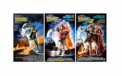 "Back to the Future ( 11"" X 17"" ) Movie Collector's Poster Prints ( Set of 3 )"