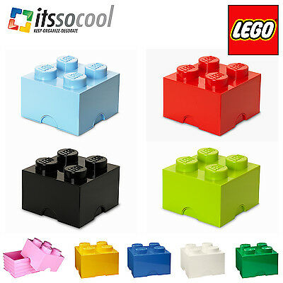Lego Brick 4 Large Storage Box Block Toy Container Box 9 Colors Official Lego