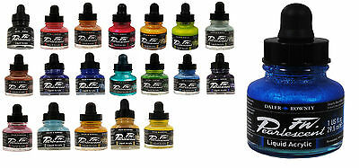 Daler Rowney FW Artist Pearlescent Ink 29.5ml -  22 colours available
