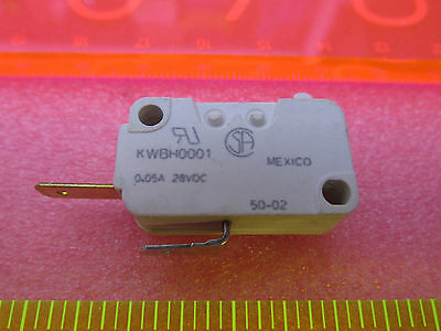 Cherry Microswitch Micro Switch 0.05 Amp 28 Vdc Gold Plated Low Current Contacts