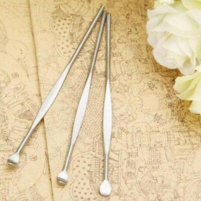 5pcs Stainless Steel Ear Pick Wax Curette Remover Cleaner Care Tool EarPick Good