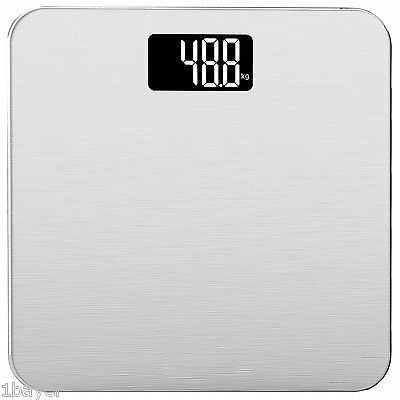 @NEW Smart Weigh Digital Home Bathroom Body Fat Monitor Weight Scale (Silver)
