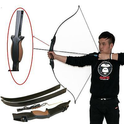"""56"""" 25lbs 2-Arrow Rest Takedown Recurve Bow Left Right Hand Shooting Game Target"""