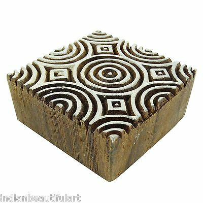 Decorative Wood Printing Block Hand Carved Indian Women Stamps Wooden Stamp