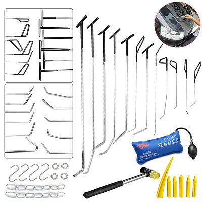 30× Paintless Dent Repair Whale Tail Sets PDR Push Rod Auto Body Removal Tools