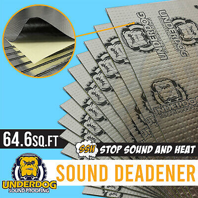 39 Sheet Bulk Pack Sound Deadening Extreme Deadener Car Sub Underdog