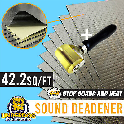 3.9m2 42.2 sq/ft butyl rubber sound deadener, deadening, dampening vs Dynamat