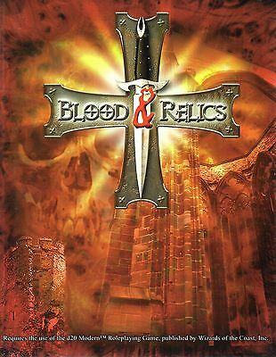 BLOOD & RELICS-RPG-Roleplaying Game-d20-Wizard of the Coast-(SC)-very rare