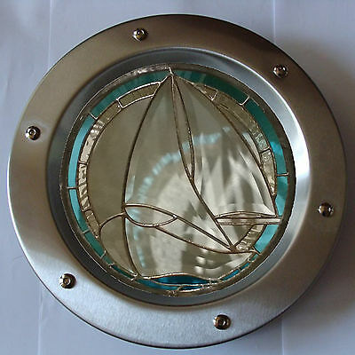PORTHOLE FOR DOORS STAINED GLASS No. 2 phi 350 mm