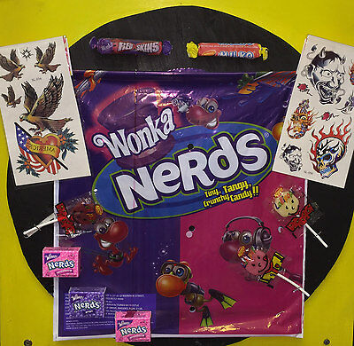 Nerds Show Bag Nerd Lolly Allens Redskin Milko Chocolate Lolly Showbag