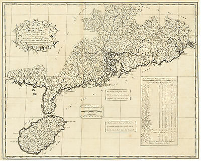 HJB-AntiqueMaps : 1738 Map of Guangdong Province by Child