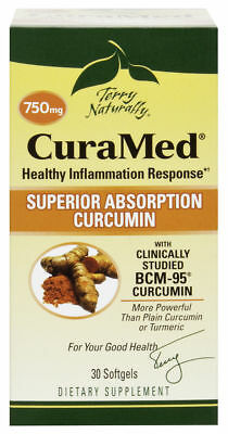 Europharma CuraMed 750 mg Softgels 30 ct Terry Naturally