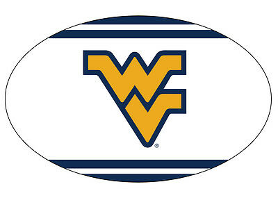 West Virginia Oval Striped Magnet-Wv Mountaineers Car Magnet-New For 2016!