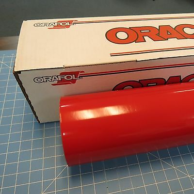"""Red Oracal 651 (1) Roll 24"""" X 10' Sign Cutting Vinyl"""