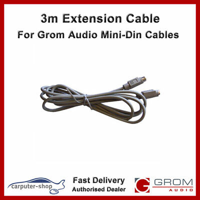 GROM AUDIO AUX-INPUT cable with a 5V USB charge socket for