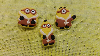 ESKIMO MINIONS shoe charms/cake toppers!! Set of 3! FAST USA SHIPPING!