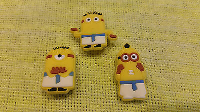 EGYPTIAN MINIONS shoe charms/cake toppers!! Set of 3! FAST USA SHIPPING!