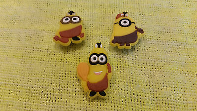 CAVEMAN MINIONS shoe charms/cake toppers!!! Set of 3! FAST USA SHIPPING!