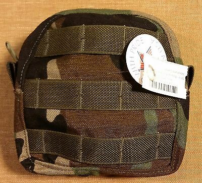 Medical First Aid Pouch MFP MOLLE MALICE Woodland Camo Patriot Performance NWT
