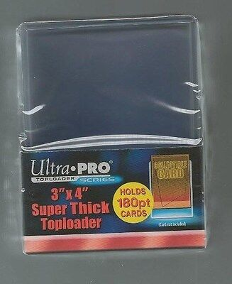 Ultra Pro 3x4 Super Thick Topload 180pt Card Holder - 10ct Pack Jersey