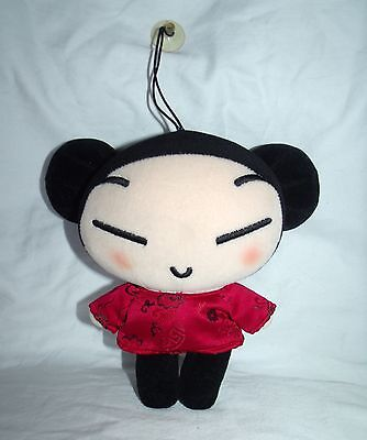 "Pucca Plush Doll Figure - 6"" Window Hanging Attachable Red Car Suction Cup Decor"