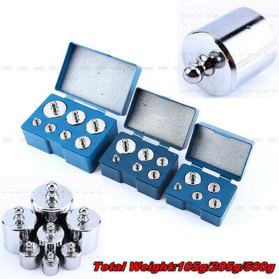 Hot Sale Silver 5Pc/6Pc/7Pc/Set Calibration Weight 105g 205g 500g Total Weight