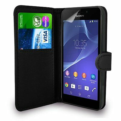 FOR SONY XPERIA Z5- New Genuine Leather Wallet Flip Case Cover