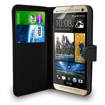 For HTC ONE M8 Premium Leather Magnetic Flip Wallet Case Cover