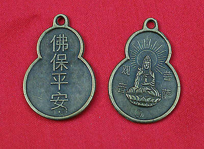 10 Chinese Feng Shui Gourd Wu Lou Coins Luck Health Wellbeing  Bronze Pendants
